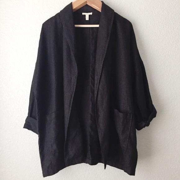 b3f83823228b2 Eileen Fisher Jackets   Blazers - Eileen Fisher Linen Kimono Shawl Collar  Jacket